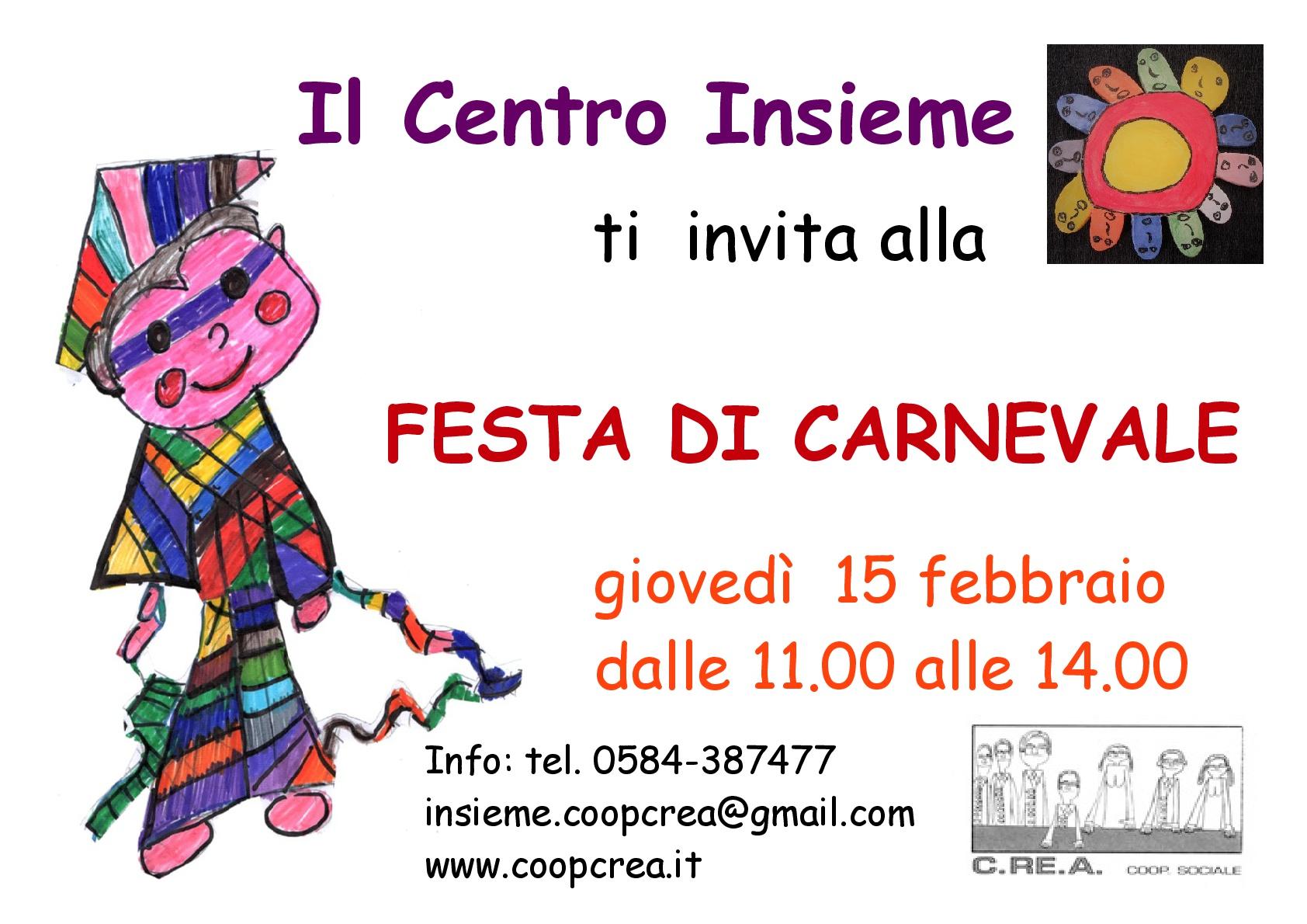 Festa di Carnevale al CDD Insieme di Viareggio   C.RE.A