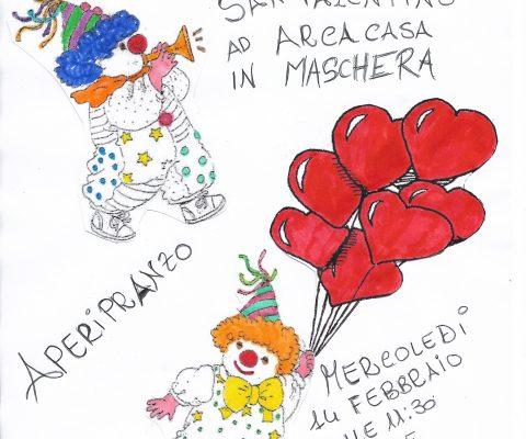 San Valentino in maschera alla CAP Arcacasa di Viareggio
