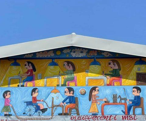 C.RE.A racconta la sua storia in un murale